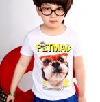 EXPORT CUSTOM LOGO cub 170g girl t shirt short sleeve child T SHIRT 100%COTTON boy T-shirt