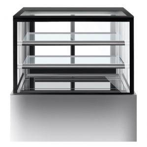 China 1800mm Two Layers Refrigerated Cake Cabinet Fan Forced Ventilation supplier