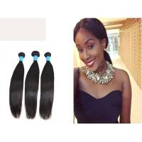 China Virgin Brazilian Natural Black Straight Human Hair Double Drawn on sale