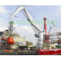 China 5Ton Knuckle boom Jib Crane Robust Design High Reliability For Loading Cargoes on sale