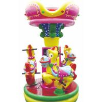 3 seats donkey merry go round with cute cartoon design for kids amusement park