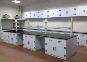 China Seamless Welding Chemistry Lab Tables Polypropylene Counter Drawer / Handle on sale