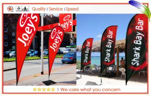 Full Color Printed Flying Banners , Custom Outdoor