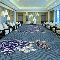 China Luxury customized pattern 80% wool 20% nylon hotel room and corridor use wall to wall axminster carpet on sale