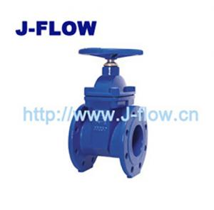 China F4 resilient seated gate valve F4 flange type gate valve PN10/PN16 resilient seated gate valve on sale