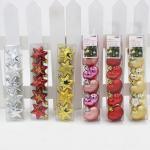 Wholesale Decorative PVC Star Heart Shaped Plastic Christmas Ornaments for Tree Decoration