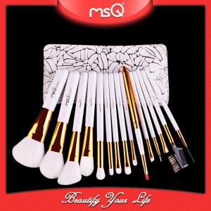 China 2017 populor MSQ 15pcs make up brushes with excellent quality cases on sale