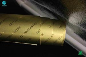 China Embossing Logo Company Name Gold Rubbing Aluminium Foil Paper Metalizing Laminated Length 1500m on sale
