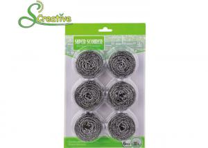 China Rustproof Anti Mildew Stainless Steel Scourer For Kitchen And Restaurant Cleaning on sale