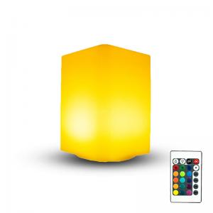 China Cuboid Shape LED Cube Light Plastic Body Material With 16 Colors Change Color on sale