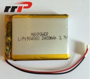 China 3.7V 904060 2400mAh 3.7 V Li-Poly Rechargeable Battery Pack Seiko PCM IEC62133 on sale
