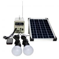 China 10W; 20W; 50W Portable Solar Power System builted in radio functions FM/AM radio, USB on sale