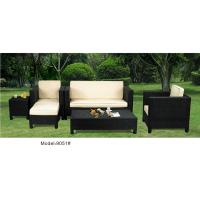 5-piece patio outdoor  resin Wicker classic high back sofa with chaise -9051