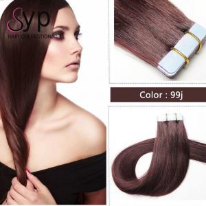 China Skin Weft Seamless Virgin Tape In Hair Extensions 100 Real Human Hair 8A Grade on sale