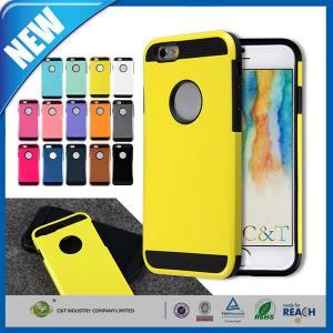 China Le plastique l'iPhone 6 d'Apple de 4,7 pouces affaire 2 dans 1 armure combinée rocailleuse en caoutchouc mince on sale