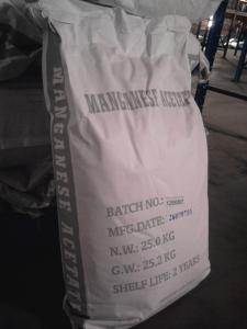 China technical grade Manganese Acetate tetrahydrate Cas NO.16674-78-5 on sale