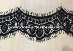 Lingerie Scalloped Embroidery Eyelash Lace Trim 100% Nylon For Cut Dress