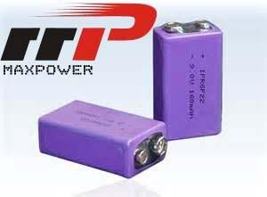 China 9V Lithium LiFePO4 Battery 200mAh Rechargeable Batteries 200mAh UL on sale