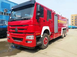 China Red Special Purpose Truck , HOWO Heavy Duty Emergency 6x4 Fire Fighting Truck on sale