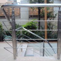 China Best Quality s.s Solid Rod Bar Railing Price / Balcony Stainless Steel Rod Bar Railing Design on sale