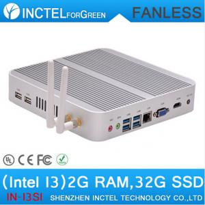 China Small PC Fanless PC Mini PC Linux HTPC Game Computer Haswell Intel Core i3 4010U 4K HD Mini NUC Windows on sale