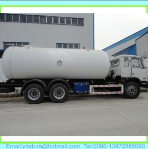 China DONGFENG lpg tanker truck price on sale