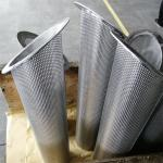 304 Stainless Steel Mesh Basket With Punched Sheet Water Treatment Filter Element