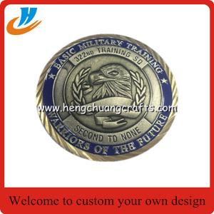 China Custom die cast US Navy Eagle Shape Metal Challenge Souvenir Coin on sale