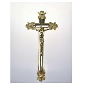 China Gold Color Casket Crucifix OEM / ODM Service Acceptable For Wooden Coffin Decoration on sale