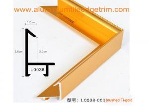 Brushed Aluminium Picture Frame Mouldings , Aluminium