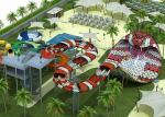 Water Park Equipment Fiberglass Snake Style Water Slide For Sale