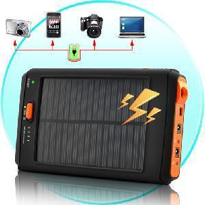 China cargador solar y batería de la alta capacidad 11200mAh con la linterna para el Tablet PC on sale