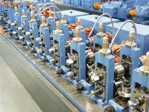 China 500kw High Frequency SS Pipe Welding Machine Gear Box Drived on sale