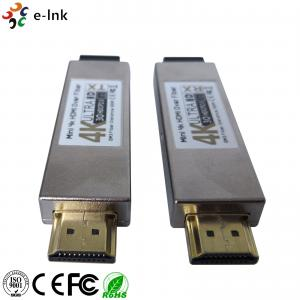 China Double LC Connector 4K HDMI Over Fiber Optic Extender Multi Mode Transmission on sale