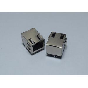 China Network RJ45 Single Port PCB Jack , RJ45 Cat 6 Cable Connectors with EMI Fingers on sale