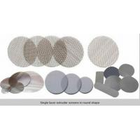 Circle extruder  screens in single or multilayer keep particles out/filter disc mesh