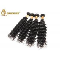 12 14 16 18 Inch Virgin Indian Human Hair Weave Deep Wave Human Hair Easy To Dye Color