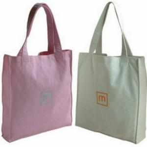 China Colorful Promotional 100% Cotton Carrier Bags / Washable Reusable Eco Shopping Bags on sale
