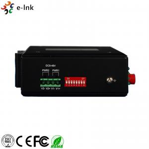 Quality Industrial 1 - 4Ch Fiber Ethernet Converter , Single Mode RS232 / RS22 / RS485 for sale