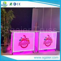 China Acrylic Led Commercial Portable Bar , High Strength Portable Breakfast Bar on sale