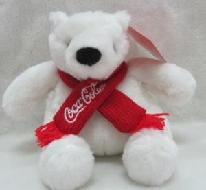 China Coca Cola Bear Polar Bear Plush Toys on sale