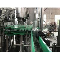 China 3 In 1 Glass Bottle Filling Machine With Touch Screen PLC Controller on sale