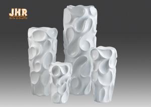 China Creative Wavy Pattern Fiberglass Flower Pots / Floor Vases Lightweight on sale