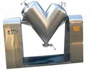 China Stainless Steel V Type Powder Mixer Machine Chemical Dry Powder Mixing Equipment on sale