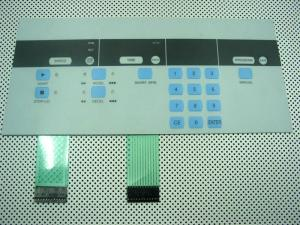 China Gloss PC Flexible Tactile Membrane Switch With Embossed Poly Dome And Rubber Keys on sale