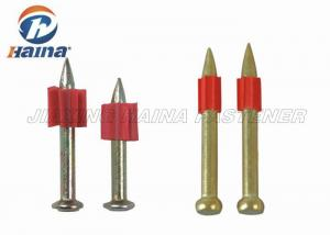 China Rubber Washer Steel Concrete Nails HDD Drive Pin Shooting Nails For Gun supplier