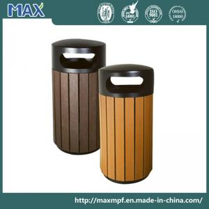 China WPC Powder Coated Steel Outdoor Dustbins on sale