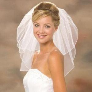 China New White/Ivory Tulle Fabric Custom-made Wedding Bridal Veils on sale