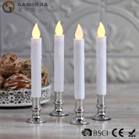 China TL-006 Battery Operated Taper Candles With Timer Golde Silver Color on sale