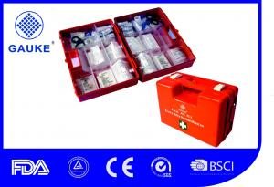 China Orange Color Industrial First Aid Kit For Factory Wall Mountable on sale